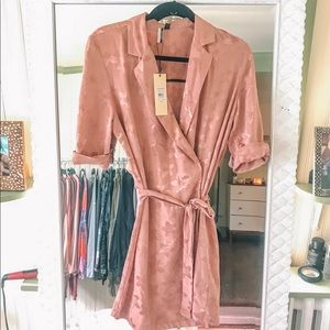 Topshop satin wrap dress